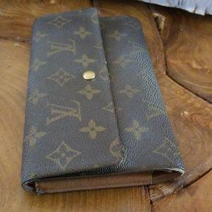 Louis Vuitton Accessories - Authentic Louis Vuitton long Sarah wallet